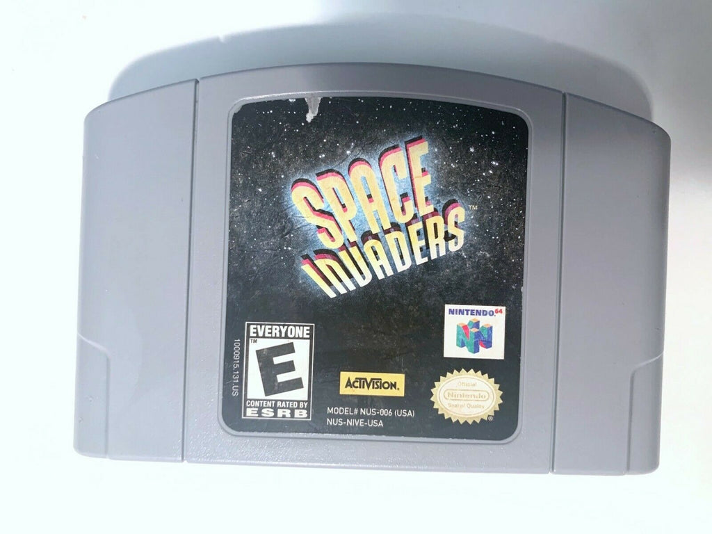Space Invaders Nintendo 64 N64 Game Tested WORKING Authentic!