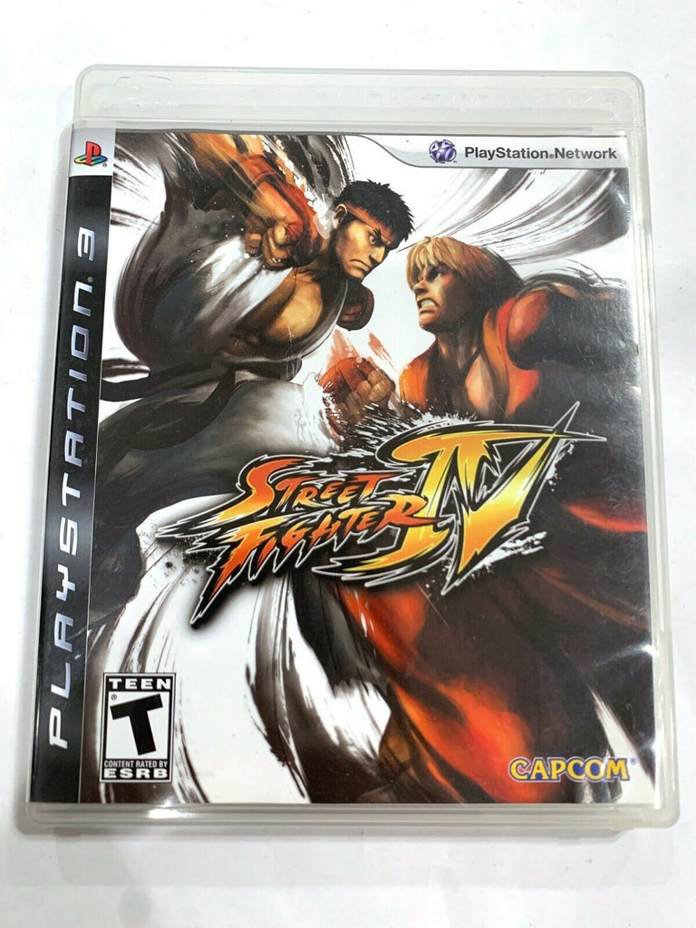 Street Fighter IV Sony PlayStation 3 PS3 GAME COMPLETE CIB Tested + Working!