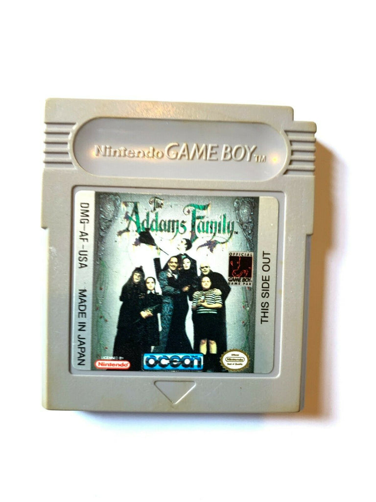The Addams Family ORIGINAL Nintendo GameBoy Game Tested WORKING Authentic!