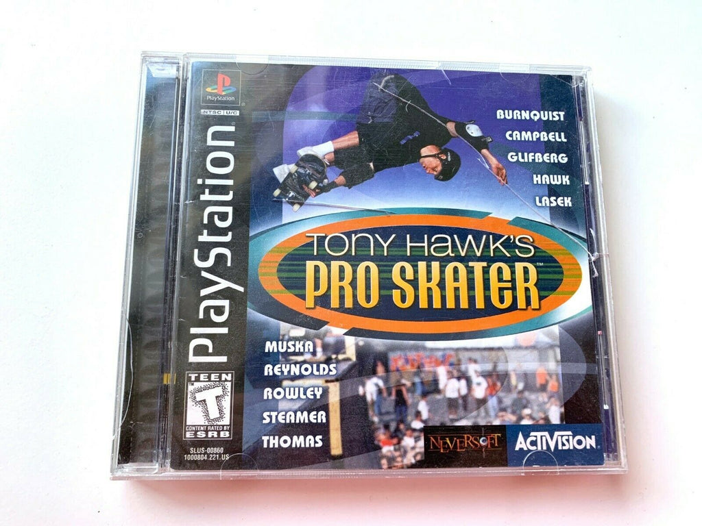 Tony Hawk's Pro Skater 1 PS1 Playstation 1 Complete Game Tested Working!