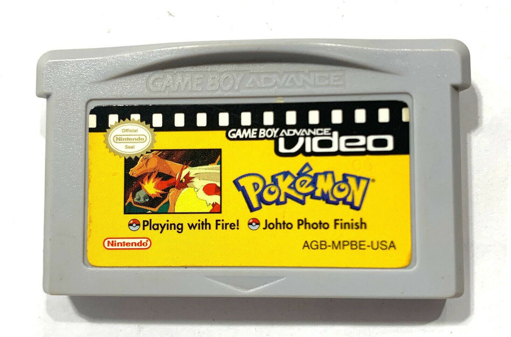 Pokemon Playing With Fire/Johto Photo Finish Video Gameboy Boy Advance GBA Cart