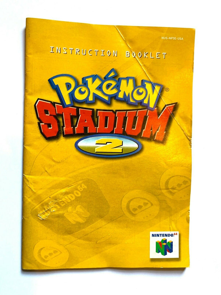 Pokemon Stadium 2 Nintendo 64 N64 Game Instruction Manual Book Booklet