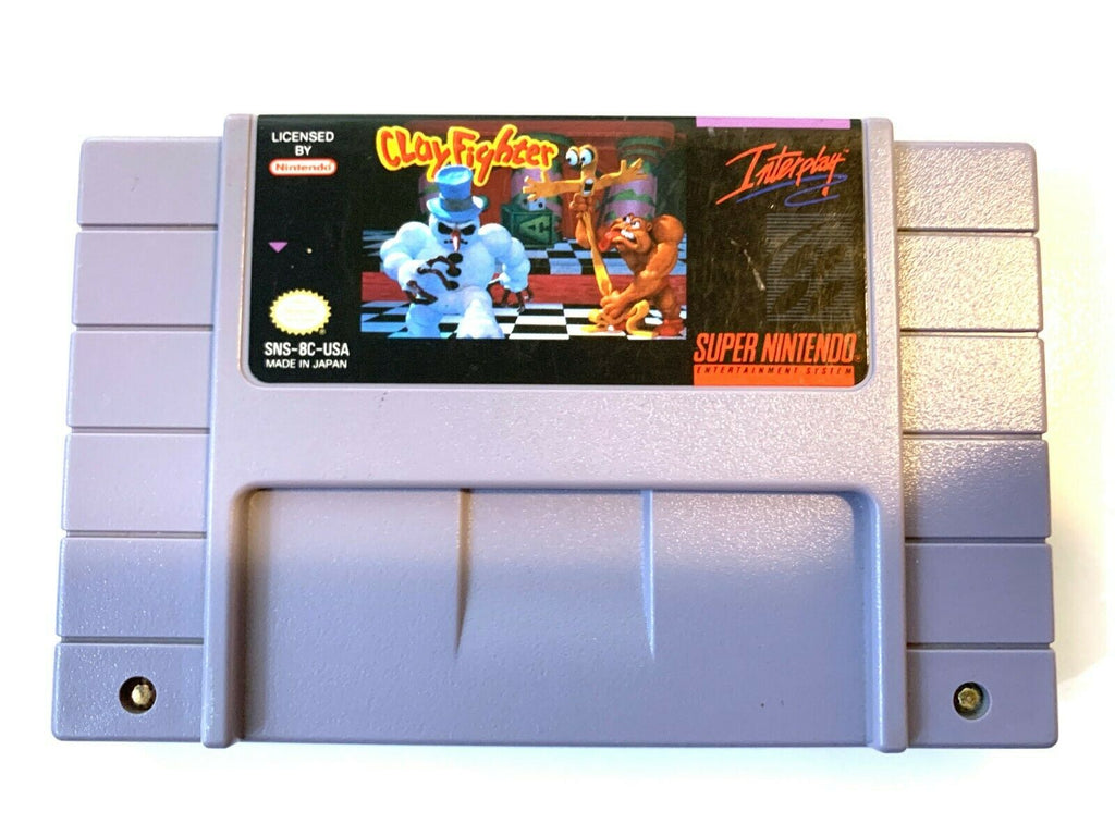 Clayfighter Clay Fighter SUPER NINTENDO SNES Game - Tested Working & Authentic!