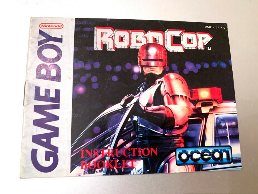 RoboCop Original Nintendo Game Boy Instruction Manual Booklet Book Only