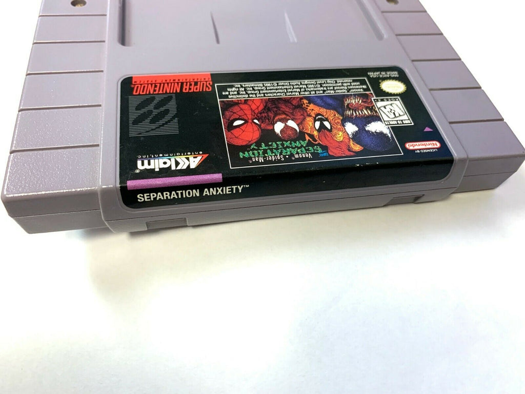 Spider-Man Venom Separation Anxiety - SNES Game - Tested - Working - Authentic!
