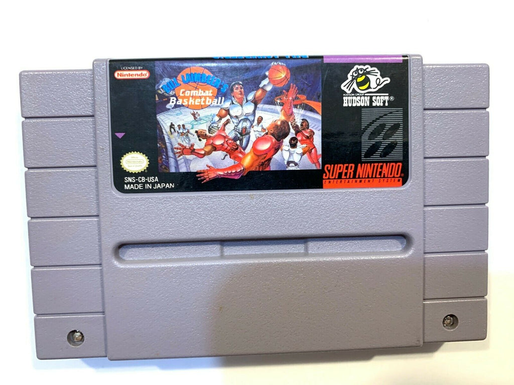 BILL Laimbeer's Combat Basketball SUPER NINTENDO SNES GAME Tested Working Auth!