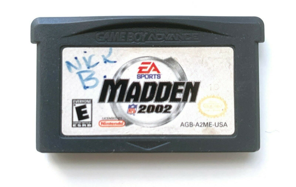 AUTHENTIC  MADDEN NFL 2002 - NINTENDO GAMEBOY ADVANCE GBA GAME