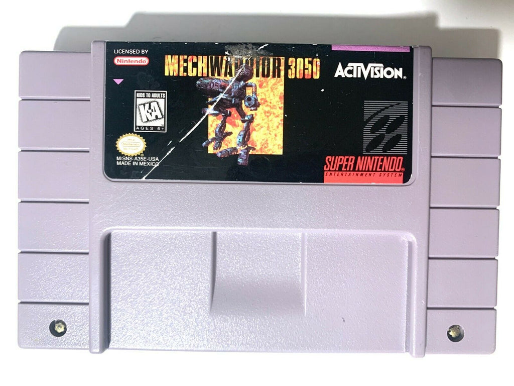 MechWarrior 3050 SUPER NINTENDO SNES GAME Tested WORKING Authentic!