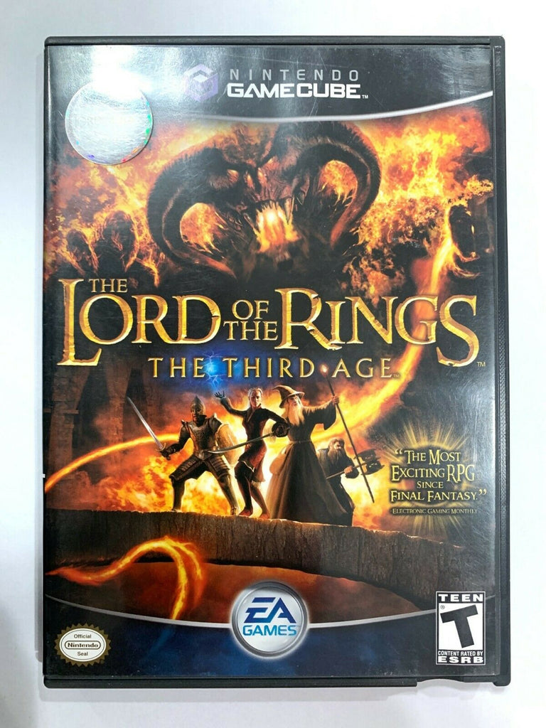 The Lord of the Rings: The Third Age NINTENDO GAMECUBE GAME Both Disks!