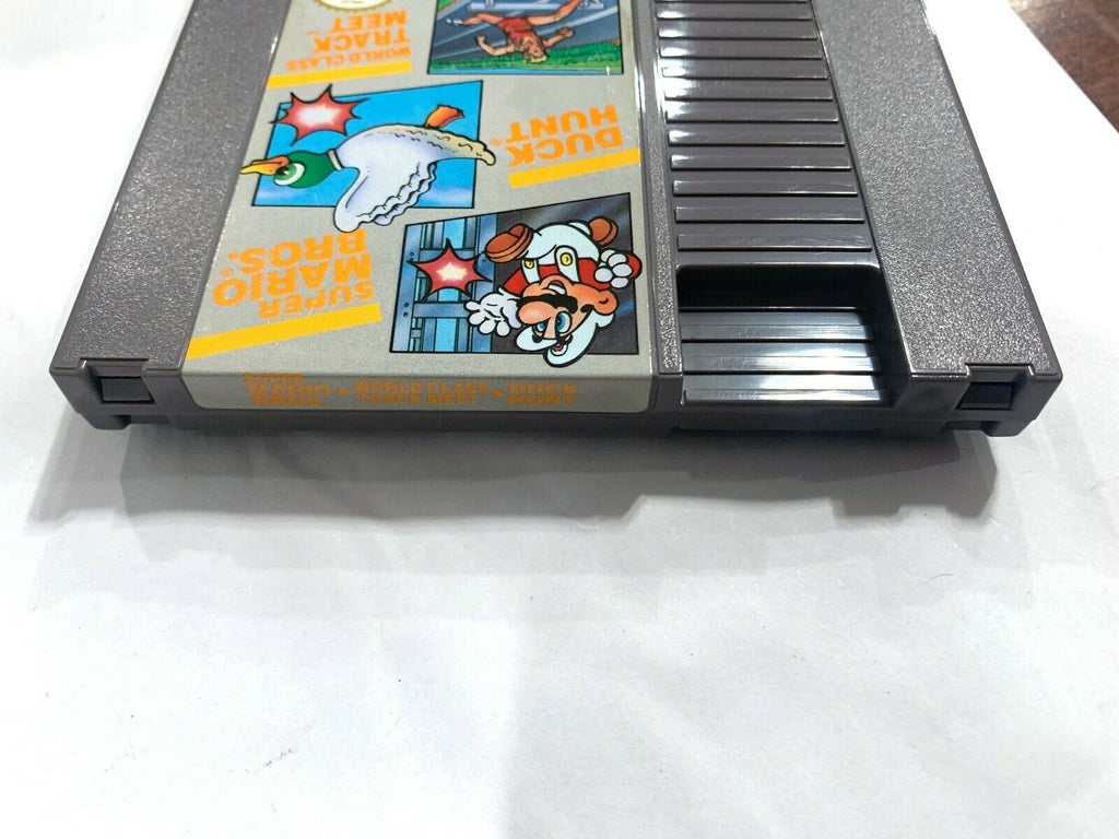 MARIO/ DUCK HUNT/ TRACK W/ Instruction Manual ORIGINAL NINTENDO NES GAME Tested!