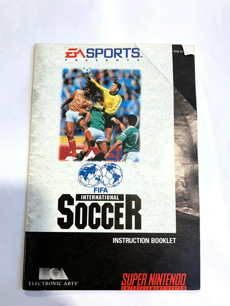 FIFA International Soccer SNES Super Nintendo Instruction Manual Only