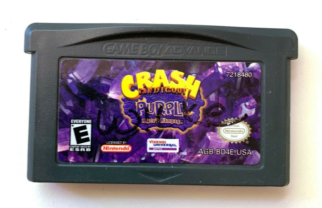 Crash Purple Nintendo Gameboy ADVANCE GBA Tested AUTHENTIC Working!