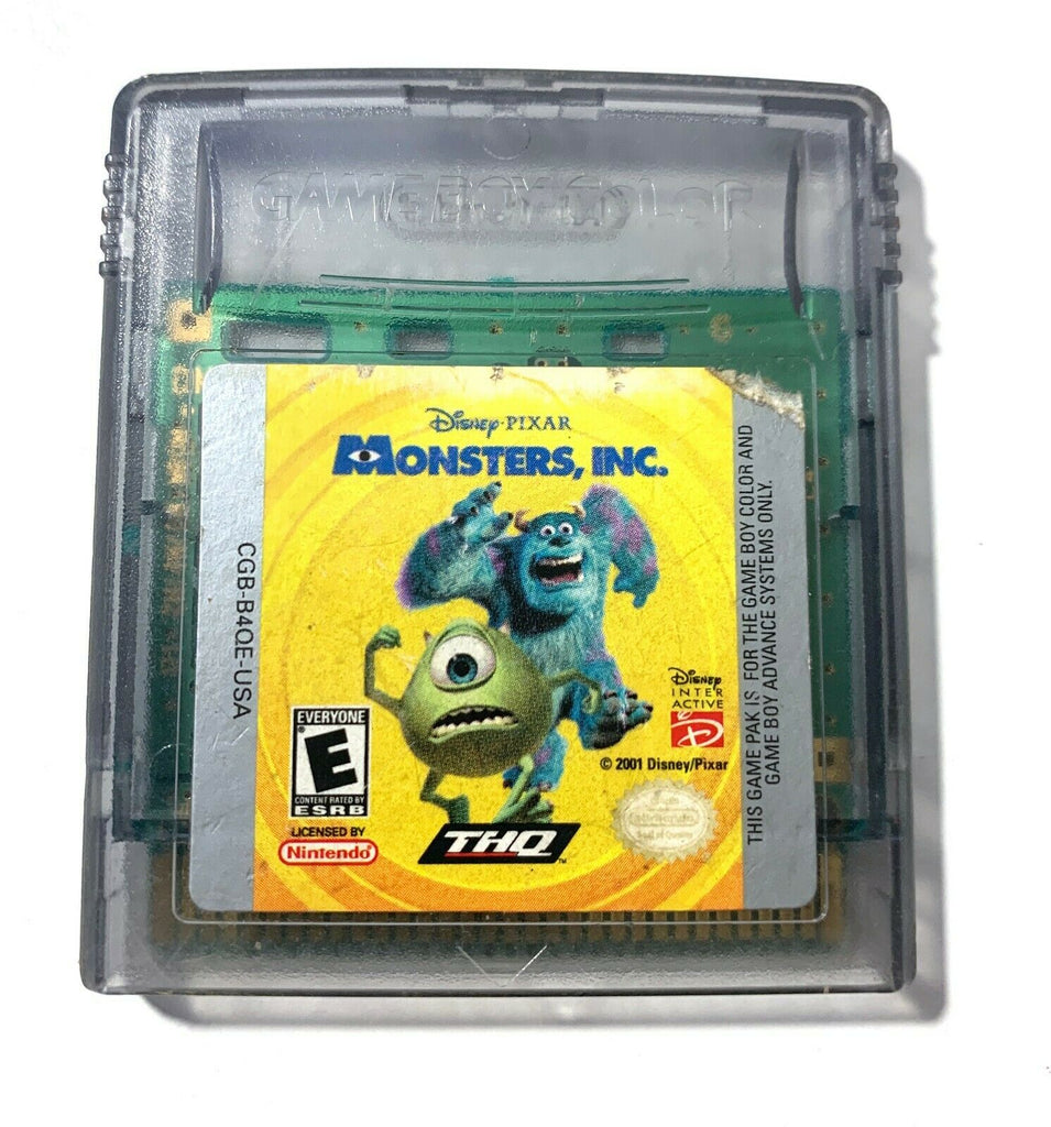 Monsters, Inc NINTENDO GAMEBOY COLOR GAME Tested Working AUTHENTIC!