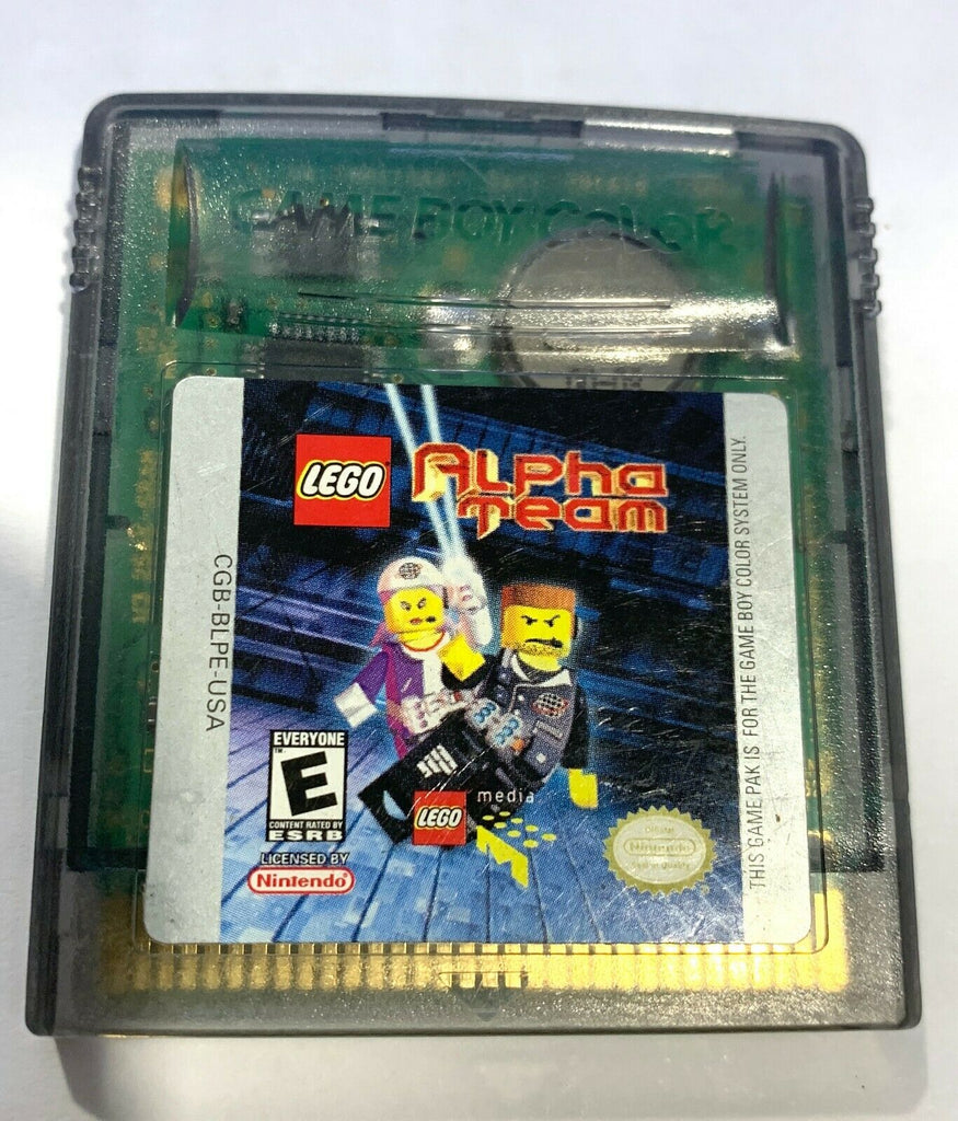LEGO ALPHA TEAM NINTENDO GAMEBOY COLOR GBC GAME Tested + Working!