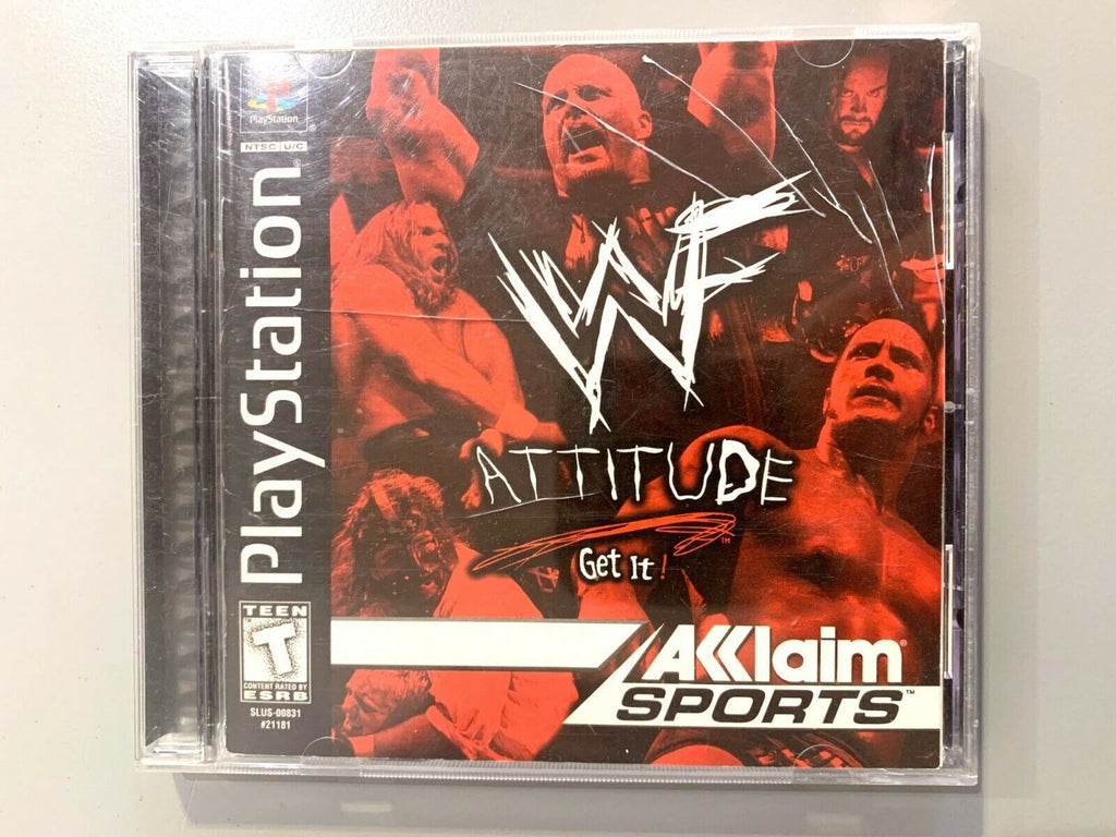WWF Attitude (Sony PlayStation 1, 1999) PS1 Complete Tested