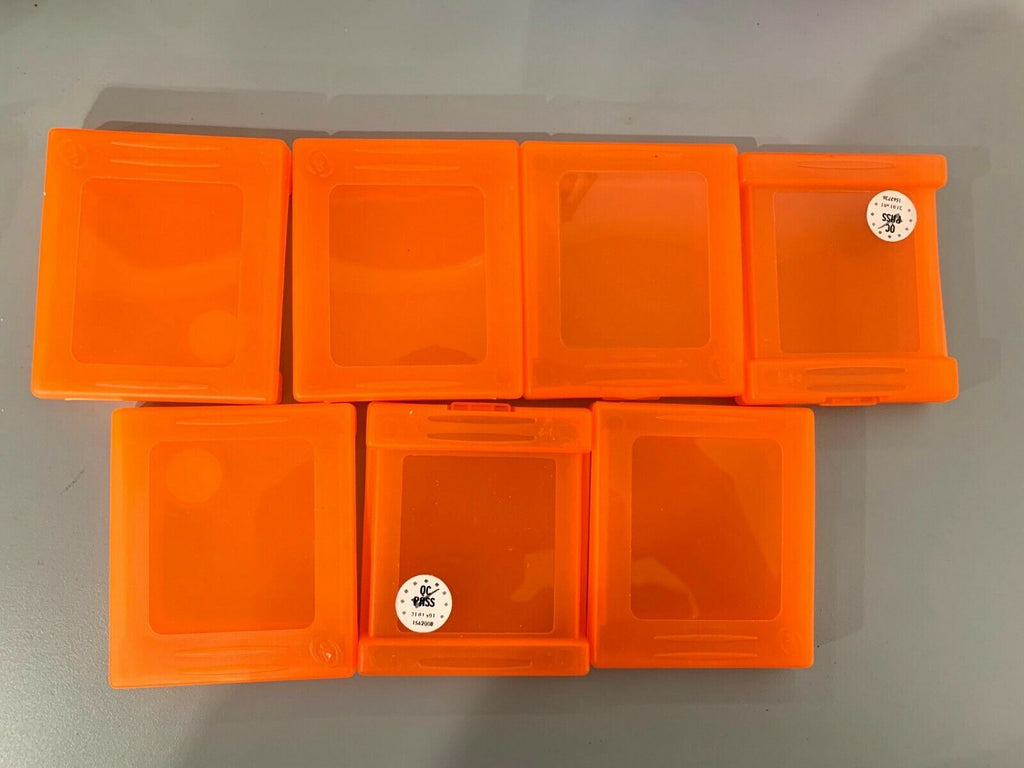 Game Boy Advance, Game Boy, & Game Boy Color Plastic 7 Cases Orange By Interact