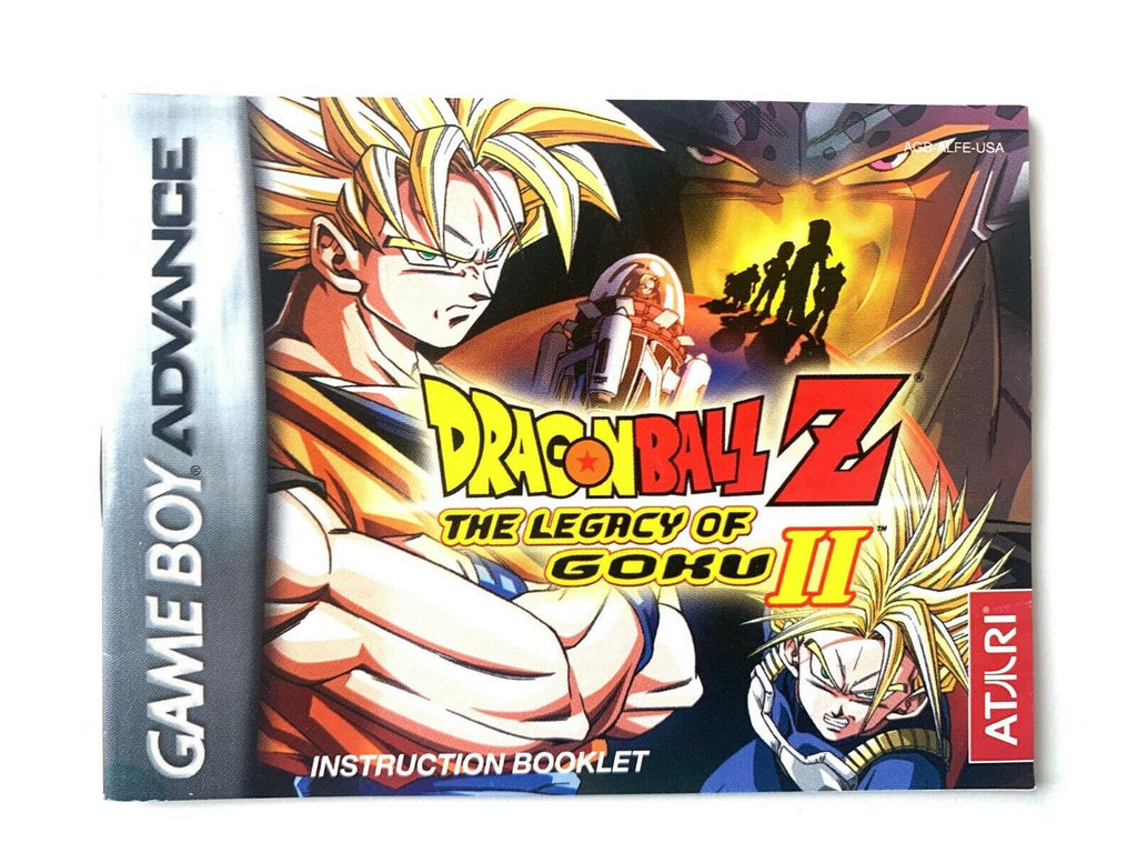 Dragon Ball Z The Legacy of Goku II 2 Game Boy Advance GBA AUTHENTIC MANUAL ONLY