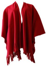 900- Poncho Fleece- Rood