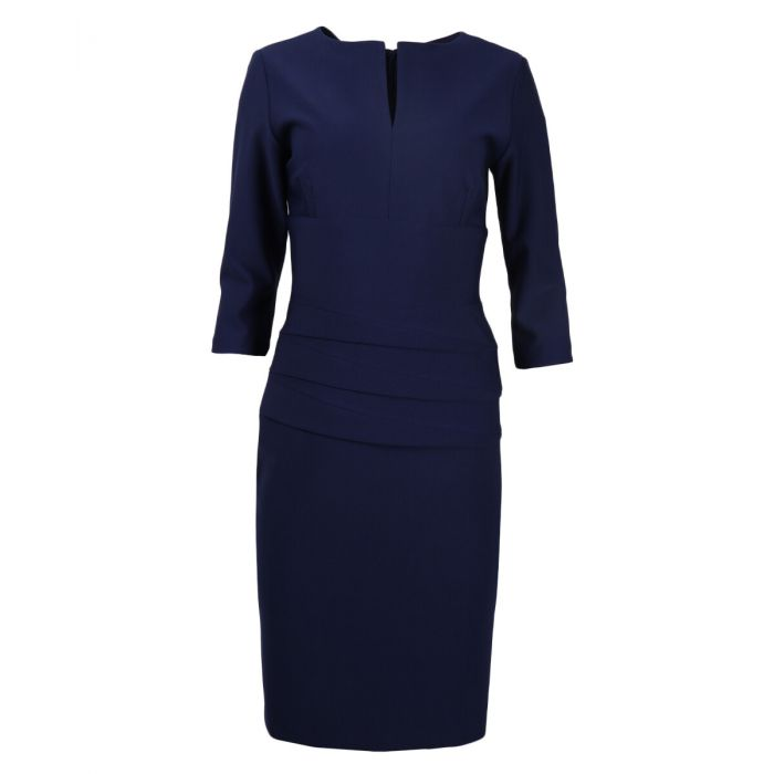 834- Diva Catwalk dress Daphne 3/4 sleeve_ NAVY BLUE