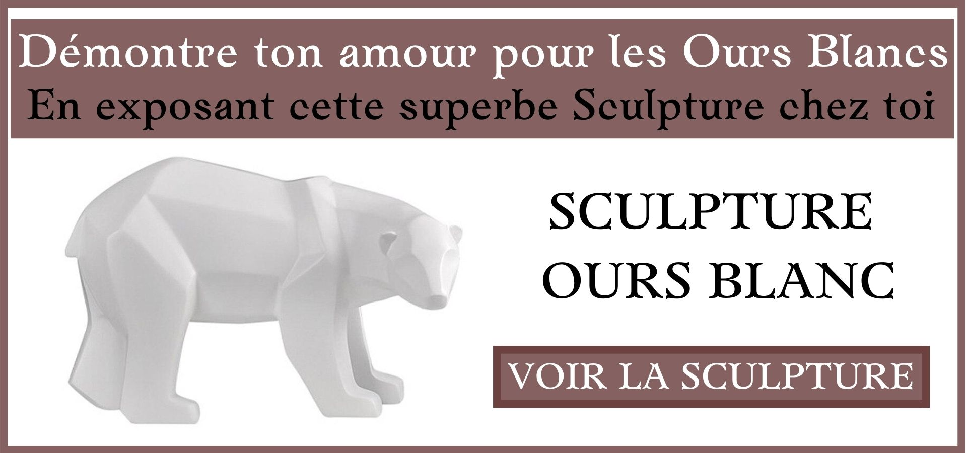 Sculpture Ours Blanc