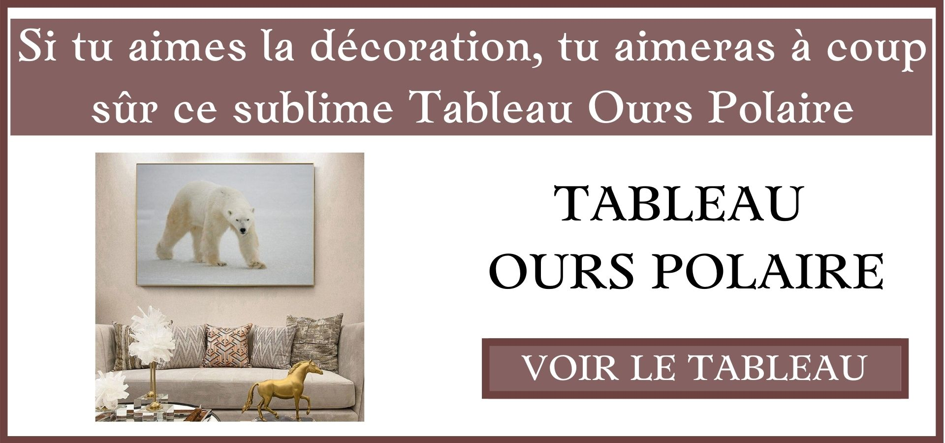 Tableau Ours Polaire
