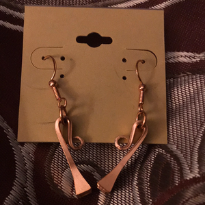 Copper Horseshoe Earrings