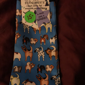 Dreamers and Schemers Socks - Dog Butts