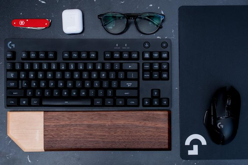 Custom Wood Mechanical Keyboard Wrist Rest - Edolatry