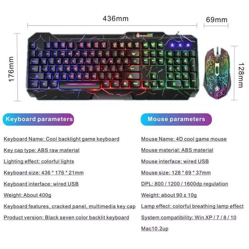 Gaming Keyboard and mouse combo - Edolatry