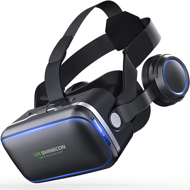 VR SHINECON 6.0 Virtual Reality 120 FOV 3D Glasses with Headset Stereo Box for Smartphone - Edolatry