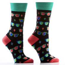 Load image into Gallery viewer, Women's crew socks, 7 fun designs