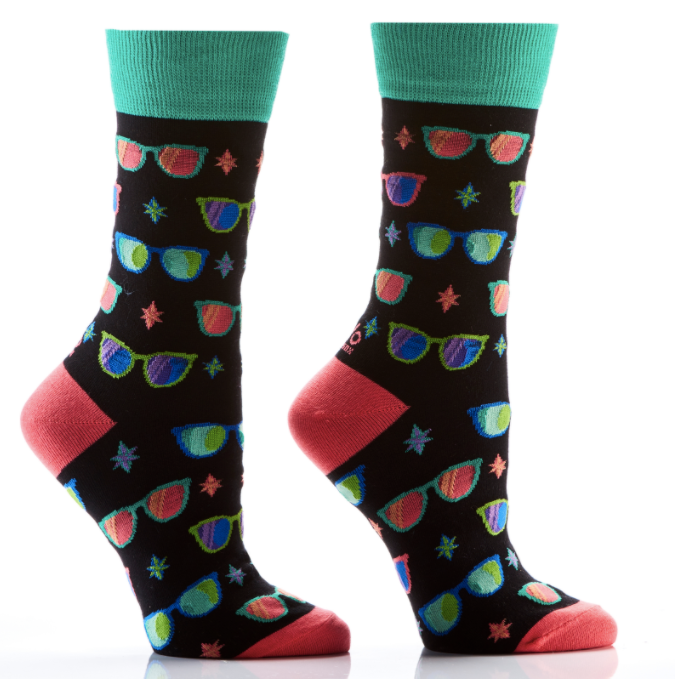 Women's crew socks, 7 fun designs