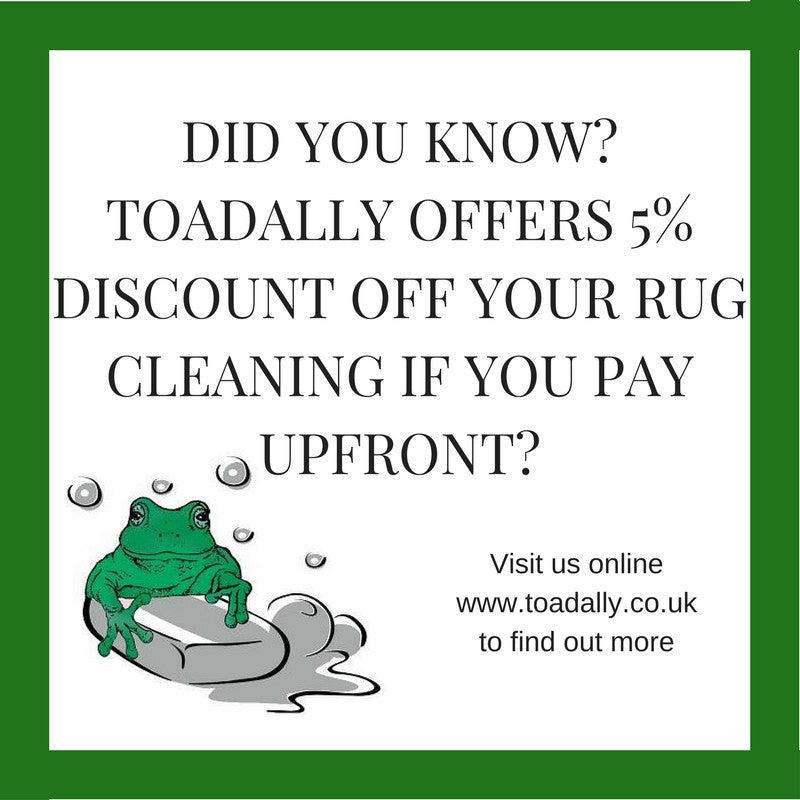 Rug washing payments - Now online!