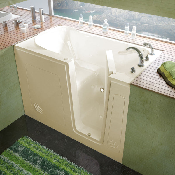 MediTub Walk-In 30 x 54 Walk-In Bathtub Soaking Biscuit Color Right Drain