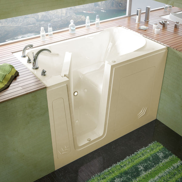 MediTub Walk-In 30 x 54 Walk-In Bathtub Soaking Biscuit Color Left Drain