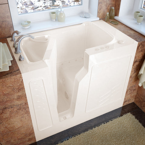 MediTub Walk-In 26 x 46 Walk-In Bathtub Air Jetted Biscuit Color Left Drain