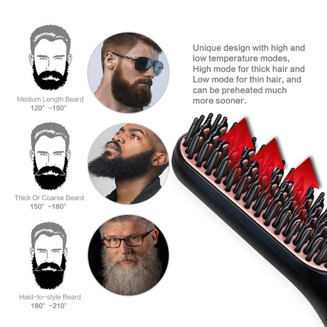 Multifunction Titanium Beard Straightener