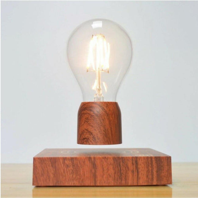 Wooden Levitating Light Bulb Lamp - ExponentStore