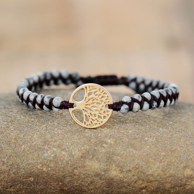 Tree of Life Natural Stone Bracelet