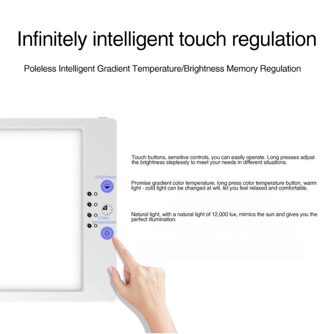 Intelligent Touch LED Therapy Light