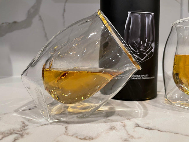 Double Glass Wall Whiskey Glasses - ExponentStore