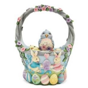 Jim Shore Heartwood Creek Easter Basket with 4 Eggs 6006990