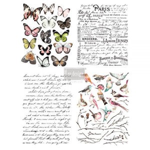 Parisian Butterflies Redesign with Prima transfer