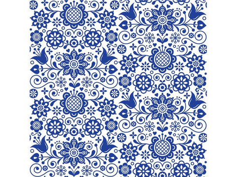 Blue Glass Ornate Rice Decoupage papers