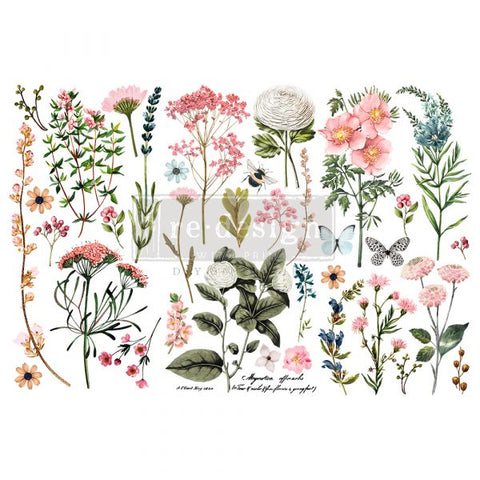 REDESIGN DECOR TRANSFERS® – BOTANICAL PARADISE – 3 SHEETS, 6″X12″