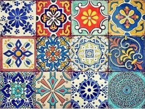 Colorful Tiles Rice Decoupage papers