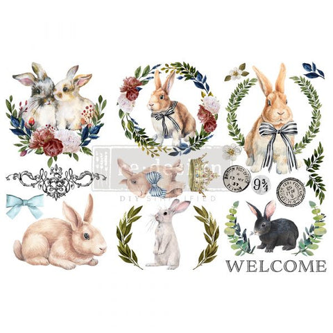 ″REDESIGN DECOR TRANSFERS® – COTTONTAIL – 3 SHEETS, 6″X12″