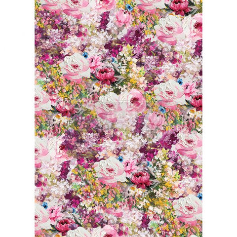 Fuchsia Meadow Redesign with Prima Rice Paper
