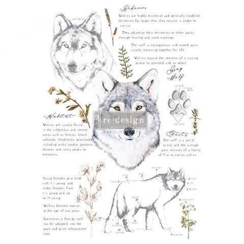REDESIGN DECOR TRANSFERS® – GRAY WOLF