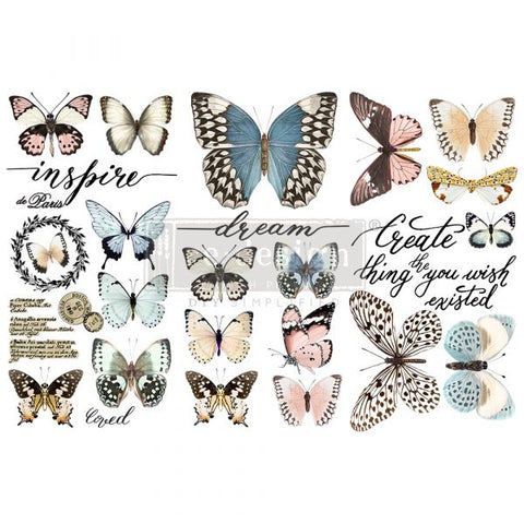 REDESIGN DECOR TRANSFERS® – PAPILLON COLLECTION – 3 SHEETS, 6″X12″